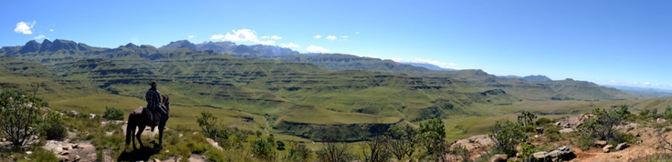 Halfway up the mountain and the views of Lesotho beckoning become tangible