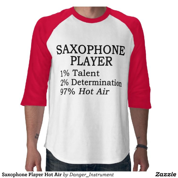Saxophone Player Hot Air Tshirts