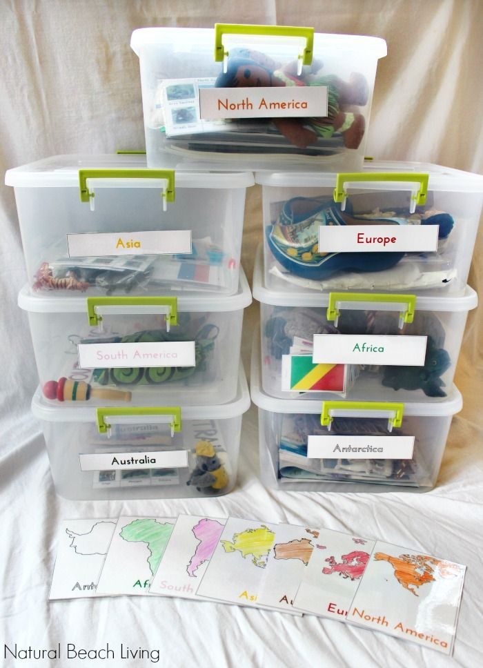 Easy Ways to Teach Montessori Culture with Free Printables from Natural Beach Living