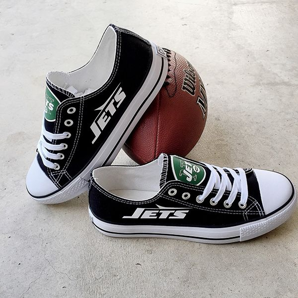New York Jets Converse Style Sneakers - http://cutesportsfan.com/new-york-jets-designed-sneakers/