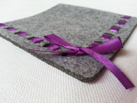 gray coasters felt coasters set of 4 coasters by TheRainbowCrafts, €10.00
