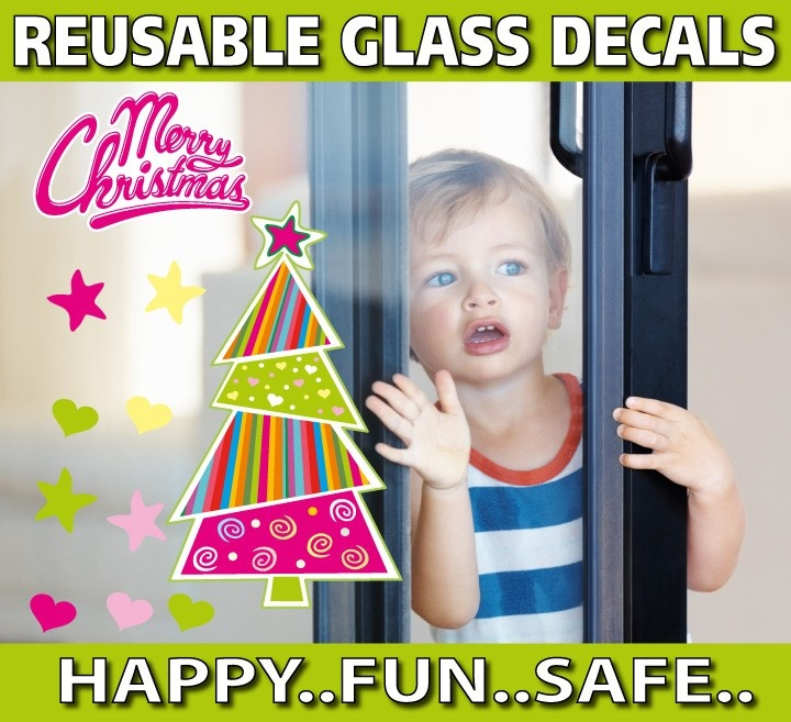 smartwalling, REUSABLE Window  decals - Funky Christmas Tree Window Decal - Totally Reusable, $5.95 (http://www.wholesaleprinters.com.au/funky-christmas-tree-window-decal-totally-reusable)