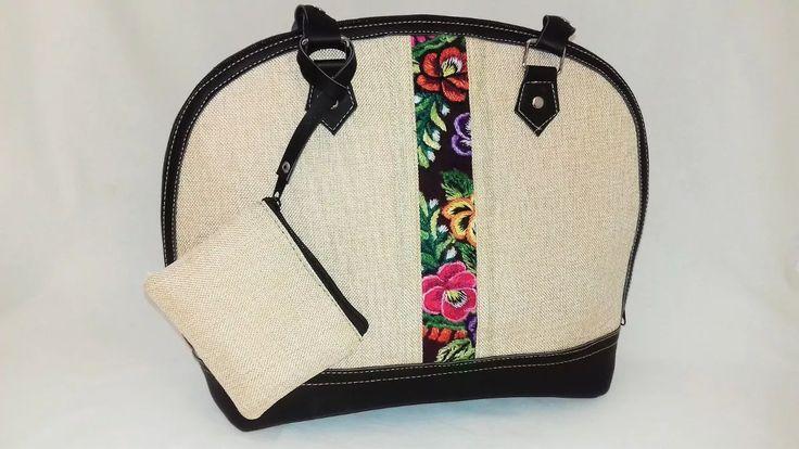 bolsa de mano bordada