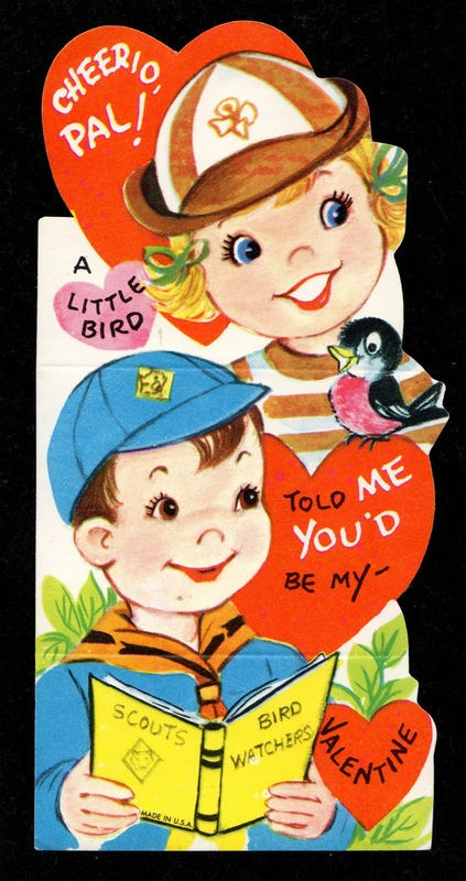 Reminds me of having to take valentine cards to class as a kid! Now that was fun!    Brownie and Cub Scout Valentine