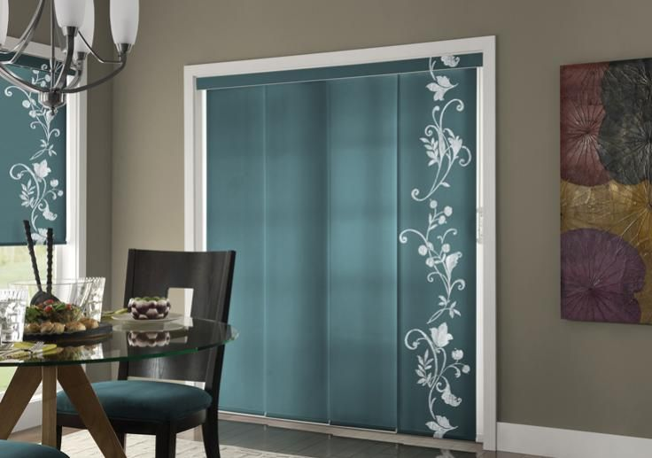 vertical door panel blinds | Panel track shades are a stylish alternative to standard patio door ...