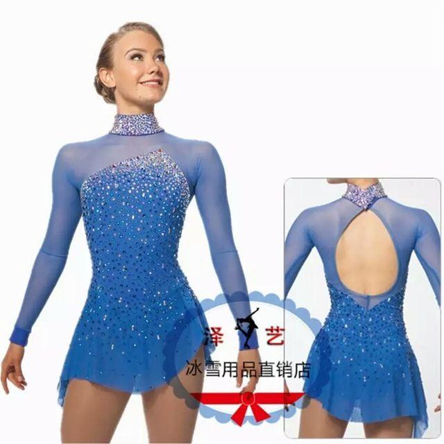 04b8c9a4c Crystal vestidos para niñas elegante nueva marca ice de patinaje ...