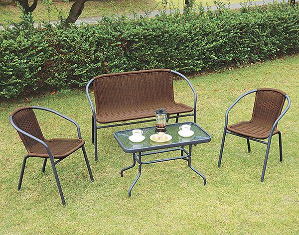 【ガーデンファニチャー】天板強化ガラス ガーデンテーブル