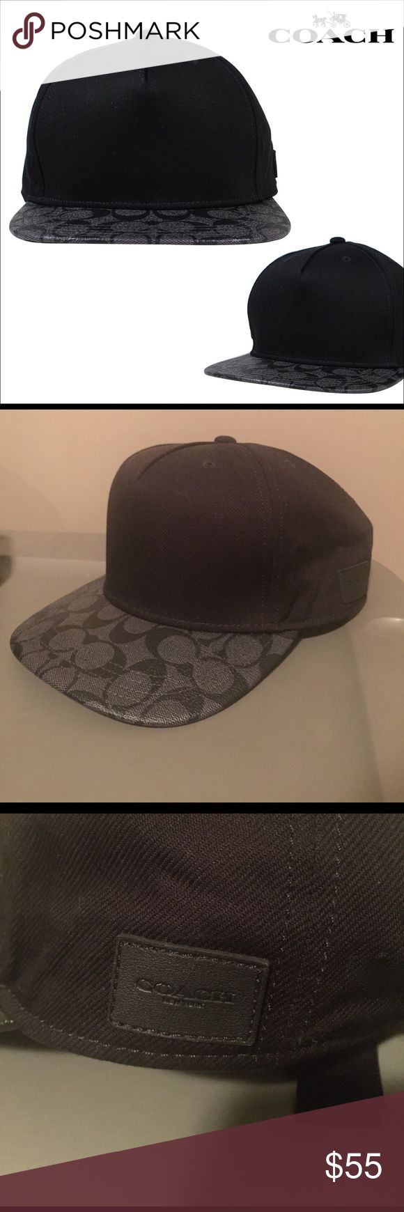 Coach Hat Like New. Black, Authentic Mens Coach Hat with leather adjustable strap. Never wore it out of the house. Coach Accessories Hats
