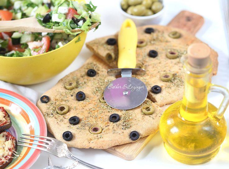 Полезная фокачча с оливками и маслинами   Рецепты правильного питания - Эстер Слезингер
