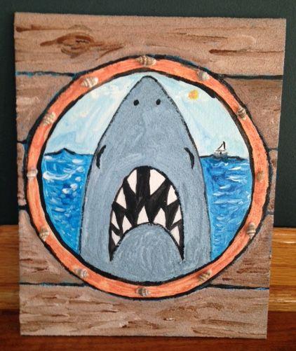 Sandy Shark on Canvas Board | Library Arts