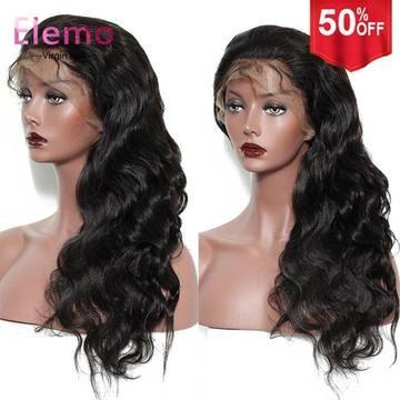 Elemo 100% Human Hair Pre-Plucked Full Lace Wig Best Grade Virgin Hair – Elemo Hair