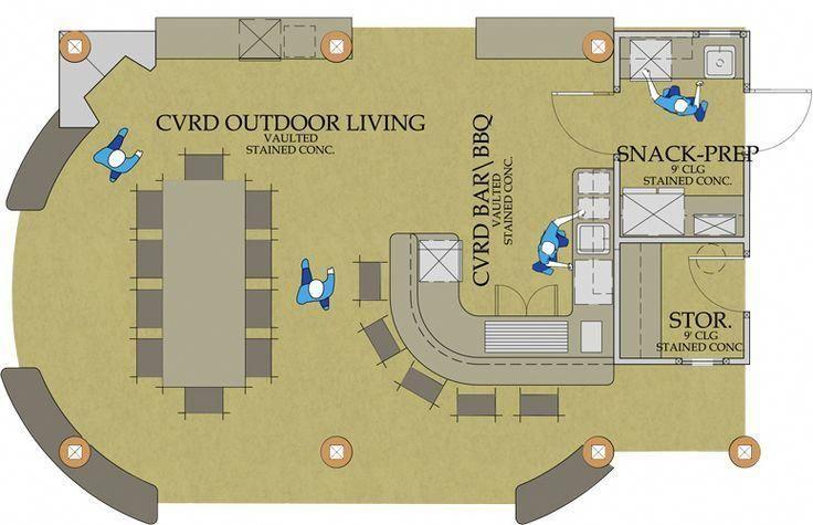 Outdoor + Küche + Haus + Pläne | Outdoor Living Kitchen, Pizzaofen … #outdoorkitchendesignsfloorplans