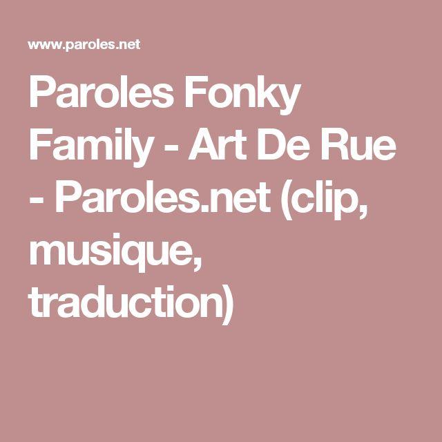Paroles Fonky Family - Art De Rue - Paroles.net (clip, musique, traduction)