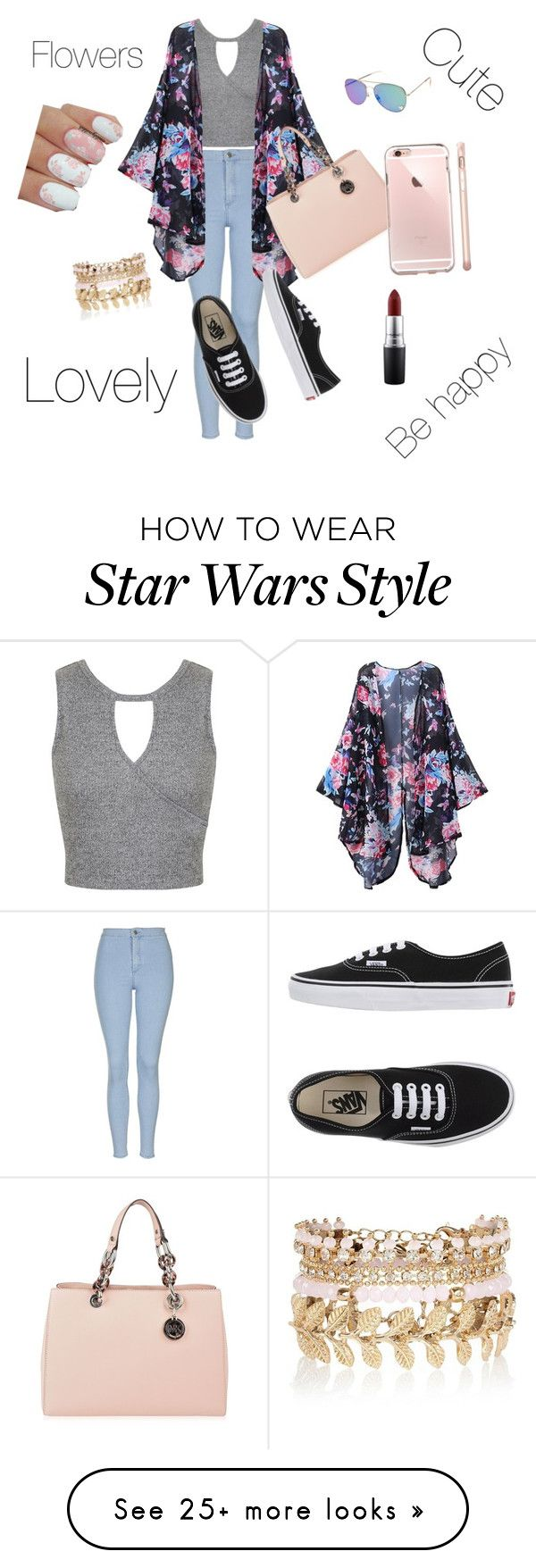 """Sin título #4"" by isabellaabou on Polyvore featuring Topshop, Miss Selfridge, Vans, MICHAEL Michael Kors, River Island, MAC Cosmetics, women's clothing, women, female and woman"