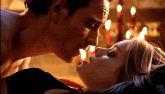 """Michael Fassbender and Christina Cole in """"Hex"""""""