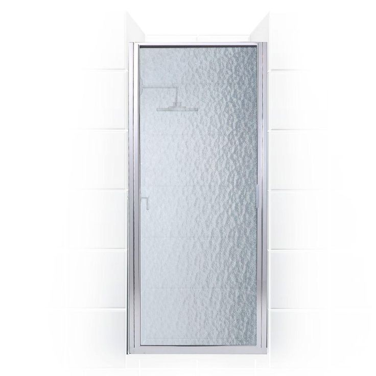 Coastal Shower Doors Paragon Series 34 in. x 69 in. Framed Continuous Hinged Shower Door in Chrome with Aquatex Glass