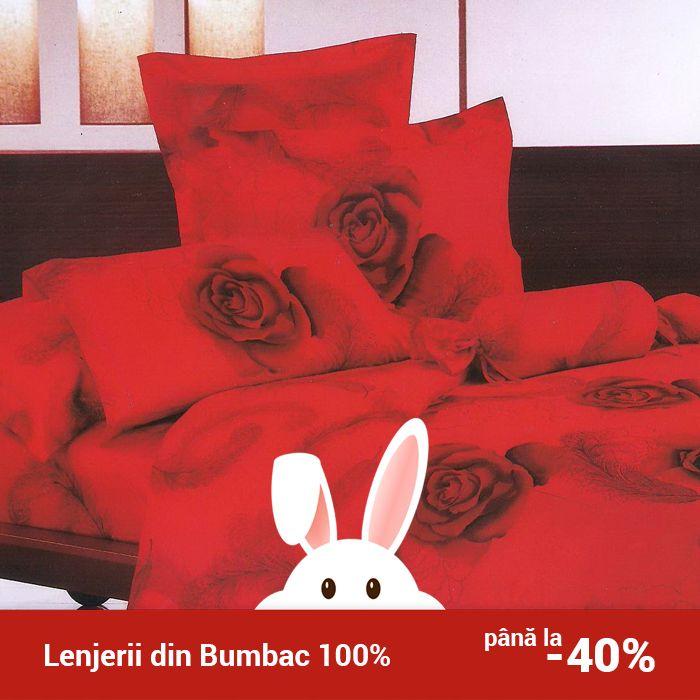 Lenjerie de pat din bumbac Valentini Bianco TB010/44