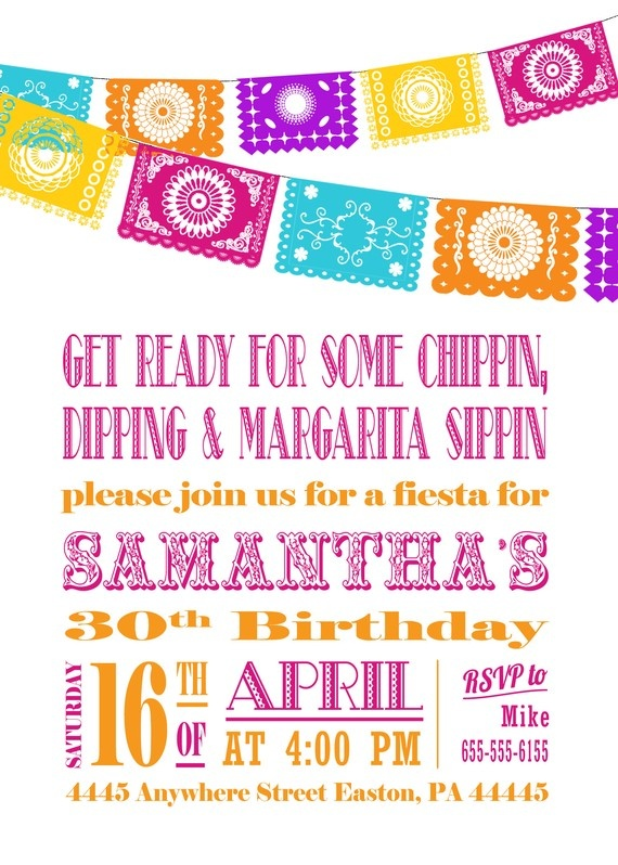 Papel Picado Invitation Chippin & Dippin by InvitingPrintables, $15.50