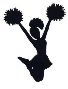 Cheerleader clip art - vector clip art online, royalty free & public domain