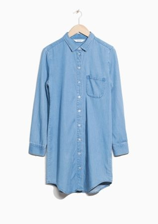 & Other Stories image 2 of Denim Shirt Dress in Light Blue