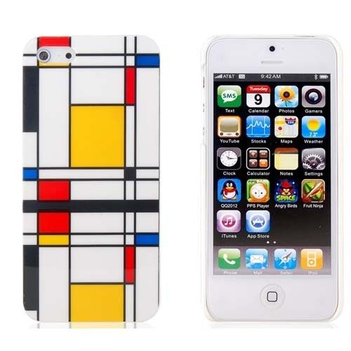 Premium hard case for iPhone 5 with colorful color grid design  Manufactured using hard and durable plastic material  Snaps on easily to your phone providing excellent protection against scratches, dust, impact and shock