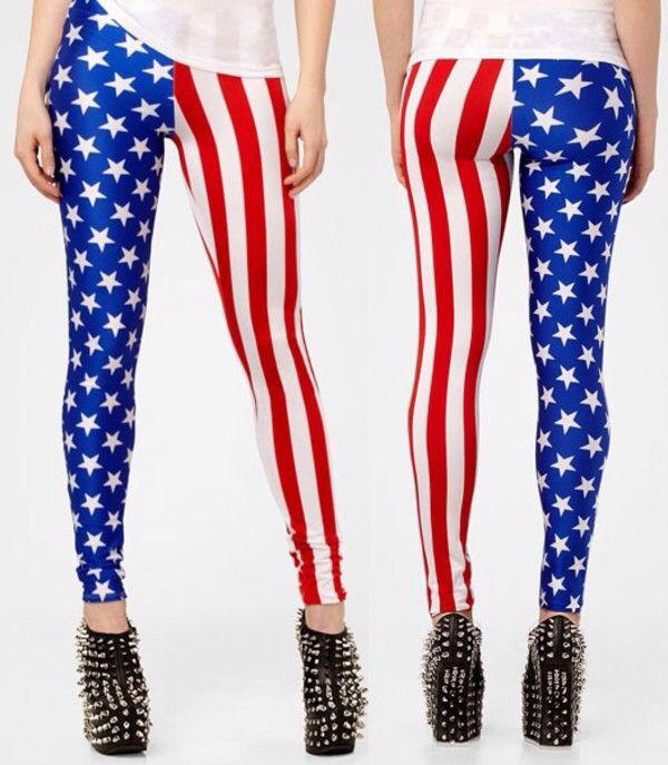 American Flag | Leggings