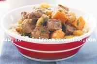 Tajine d'agneau aux patates douces et abricots