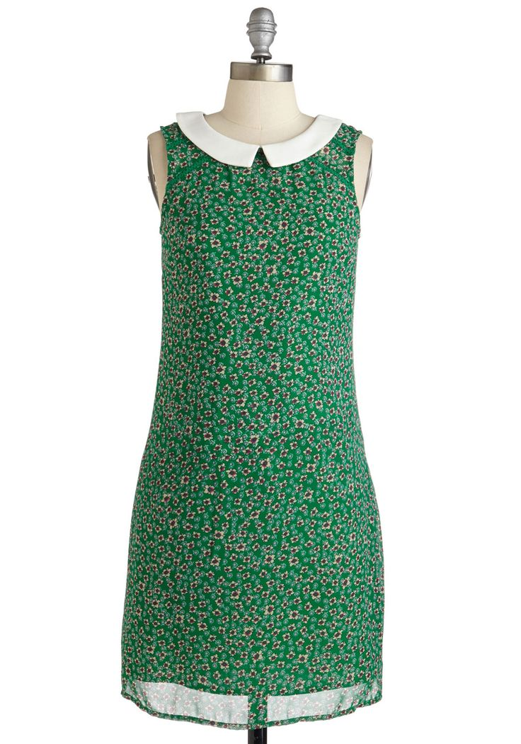 Bada Bing, Bada Bloom Dress. Faster than you can say chic, this floral shift dress from Yumi has you feeling whimsical as can be! #green #modcloth