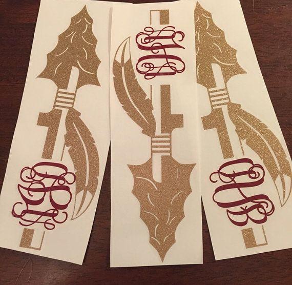 FSU Spear Monogram Decal by aNnMonograms on Etsy