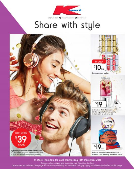 Kmart - Share With Style - Offer valid Thu 3 Dec - Wed 16 Dec 2015
