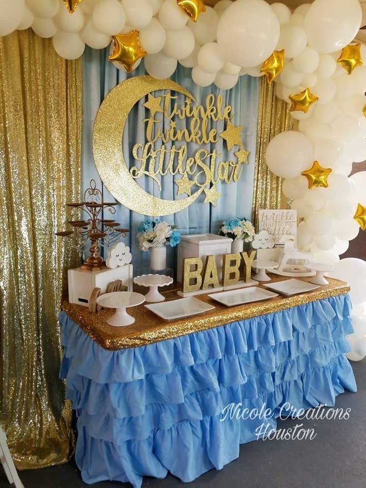 Pin By Faiithooo On Baby Shower Moon Baby Shower Boy Baby Shower Themes Moon Baby Shower Theme