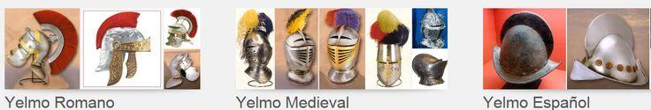 YELMO. Casco de hierro de forma cónica, con una placa que protegía la nariz, en los trajes del caballero medieval.