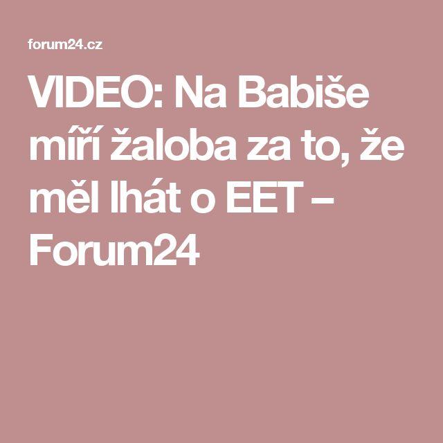 VIDEO: Na Babiše míří žaloba za to, že měl lhát o EET – Forum24