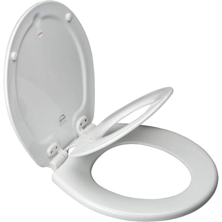 Bemis 7B1483SLOW Elongated Soft Close Childrens Toilet Seat White Accessory Toilet Seat Child Toilet Seats