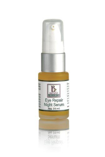 Be Natural Organics Eye Repair Night Serum .5oz. (15ml) by Be Natural Organics. $26.00. repair and nourish the delicate skin around the eyes. Skin Type: All Skin Types 25 +. intensive anti-aging treatment. tighten connective tissues under the skin to lessen fine lines. Size: .5oz. (15ml). This multi-repair formula provides an intensive anti-aging treatment to help tighten connective tissues under the skin to lessen fine lines, crows feet and wrinkles while drenching the skin with...
