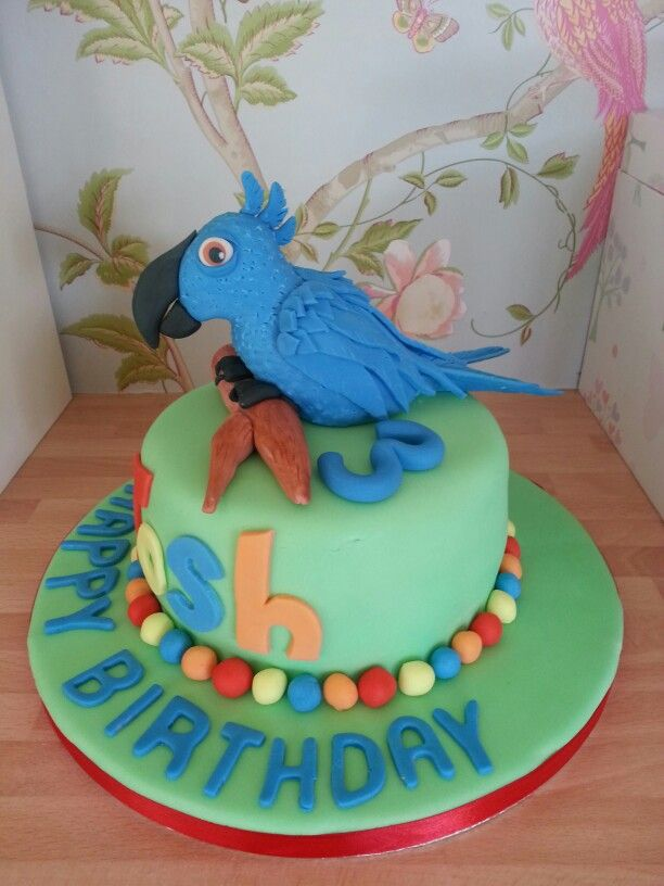 A little parrot cake...AMANDA BISHOP CAKES
