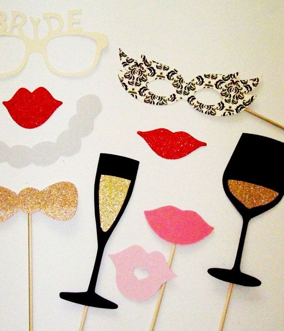Bridal Shower Photo Booth Props Beautiful Beige & by PimpYourParty, $25.00