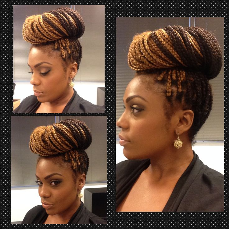 Box Braids Simply High Bun Natural Hair Doll