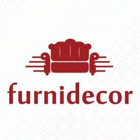 Red Sofa Logo Designs For Sale On Stock Logos | Furnidecor Logo
