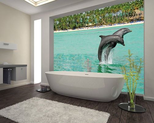 Bath with dolphins?