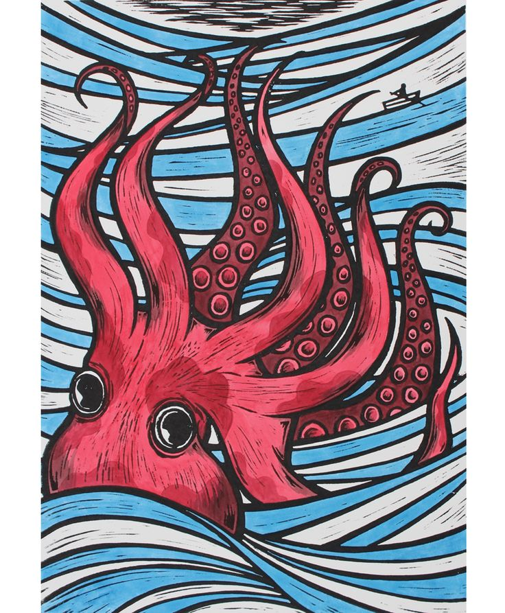 'In Deep (Red)' the limited edition artwork by artist Chris Bourke. Available to buy online at Nelly Duff.