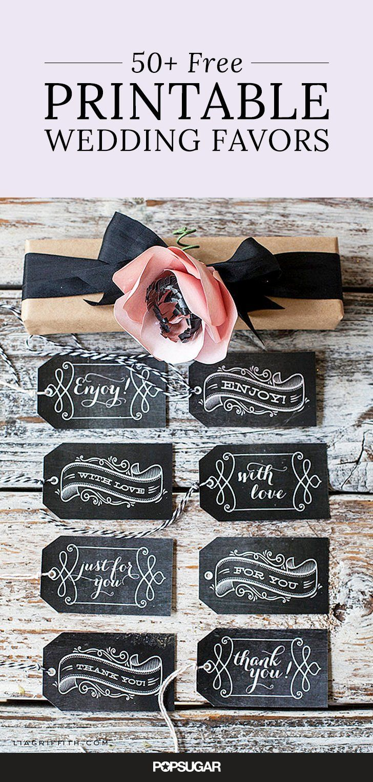 59 Beautiful Wedding Favor Printables to Download For Free!