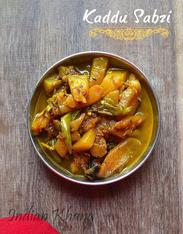Kaddu (Kumdra) Sabzi | Pumpkin Curry Recipe ~ Indian Khana