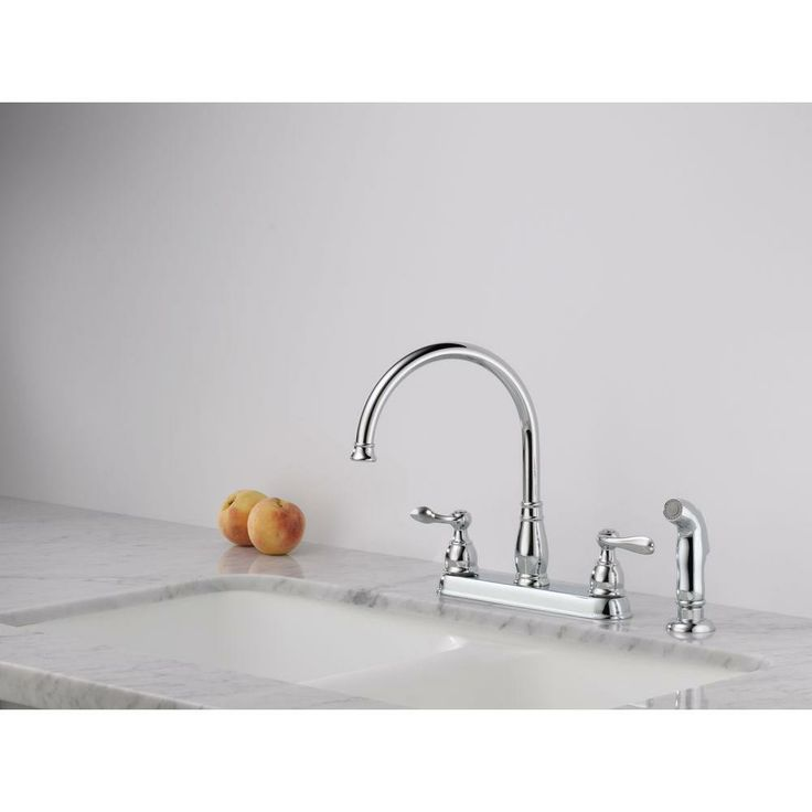 Windemere St: Delta Windemere 2-Handle Standard Kitchen Faucet With Side