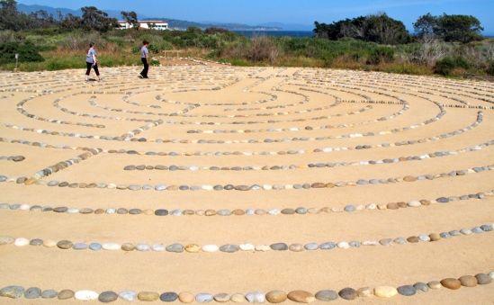 The Labyrinth Trail on Lagoon Island. UCSB, Santa Barbara, CA.                                                                                                                                                                                 More