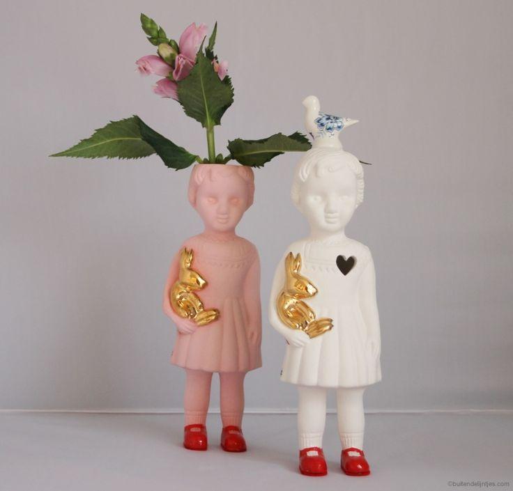 Lammers en Lammers Popje Open Mind Roze   Keramiek   Buiten de Lijntjes