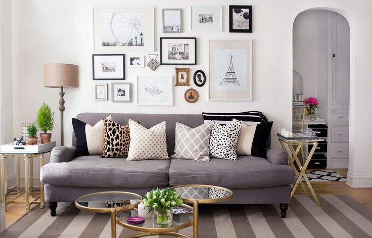 много картин на стене в 2020 г | Стили для гостиных комнат ...