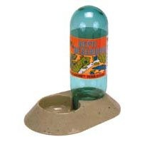 """$8.70-$8.70 Zoo Med Reptile Reservoir, 22 oz - A deluxe reptile water dish with a 22 ounce water reserve. The large reserve provides constant fresh water, while the small basin discourages reptiles from fouling their water. Includes an """"insect guard"""" which prevents insects and small lizards from entering the reservoir and getting stuck. Extra wide base prevents accidental tipping and spilling. {U ..."""