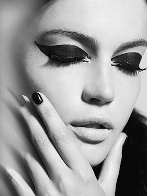 69 best Black And White Makeup images on Pinterest | Make ...
