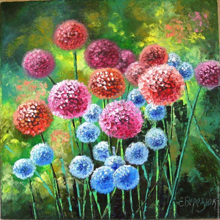 Oil painting / Купить Розовые миры картина маслом на холсте - розовый белый, картина в подарок, картина с цветами